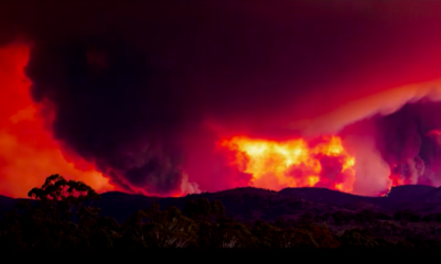 Watch a furious fire erupt outside Australia's capital