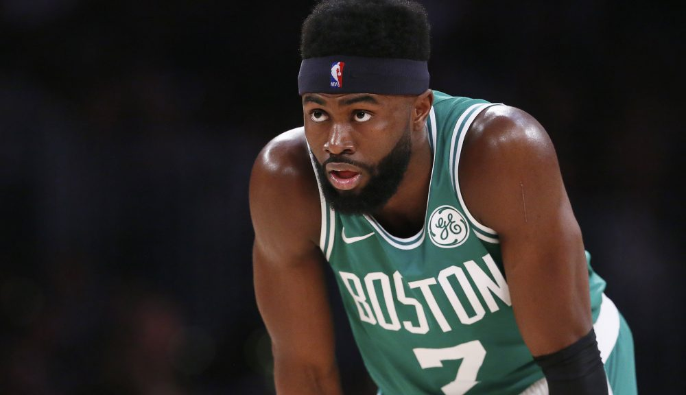 See the powerful images of Celtics star Jaylen Brown leading a peaceful protest