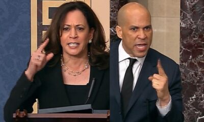 Rand Paul holds up anti-lynching bill. See Kamala Harris and Cory Booker's reaction.