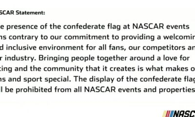 NASCAR officially banning Confederate flag at NASCAR events and properties