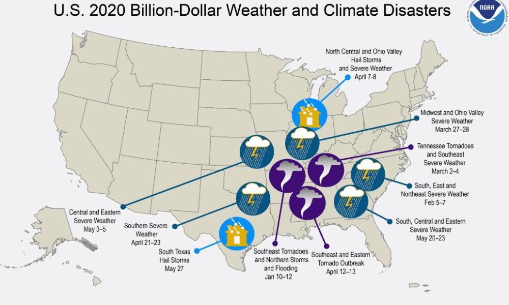 US hits 10th billion-dollar weather disaster of the year — at a record pace